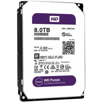 Жесткий диск ПК Western Digital WD80PUZX 8Tb (WD80PUZX)Жесткие  диски ПК Western Digital<br>Жесткий диск WD Purple WD80PUZX 8000ГБ 3,5 7200RPM 128MB (SATA-III)<br>
