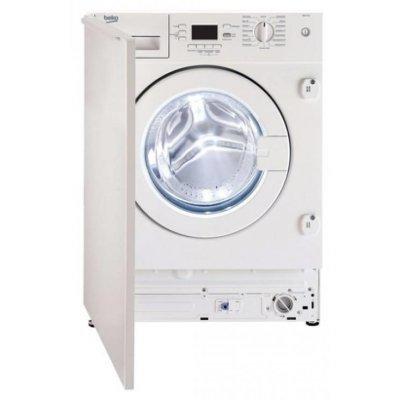 Стиральная машина Beko WDI85143 (WDI85143)Стиральные машины Beko<br>Установка: встраиваемая / Максимальная загрузка белья: 8 кг / Сушка: есть / 82х60х54 / Цвет: белый / Класс потребления электроэнергии: A / Класс эффективности стирки: A<br>