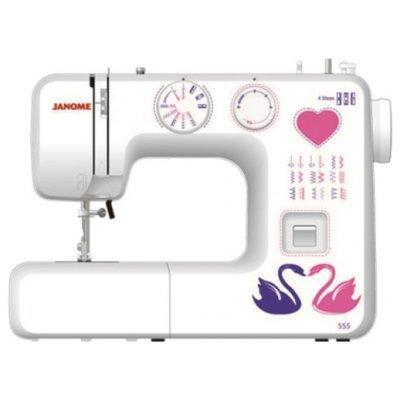 Швейная машина Janome 555 белый (555) швейная машина janome sew easy