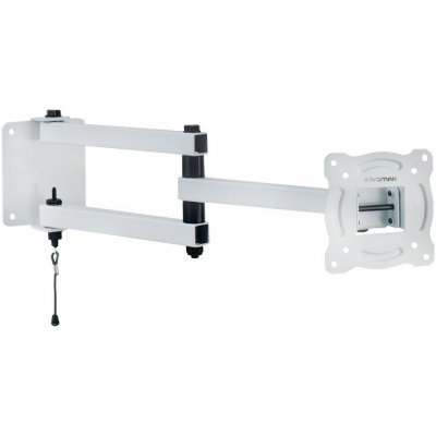 Кронштейн для ТВ и панелей Kromax AUTO-ARM-1 белый (20229)Кронштейн для ТВ и панелей Kromax<br>Кронштейн для телевизора Kromax AUTO-ARM-1 белый 15-28 макс.30кг настенный поворот и наклон<br>