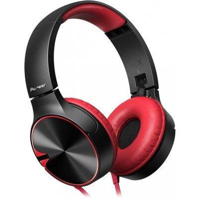 Наушники Pioneer SE-MJ722T-R красный/черный (SE-MJ722T-R)Наушники Pioneer<br>Наушники накладные Pioneer SE-MJ722T-R 1.2м красный/черный проводные (оголовье)<br>