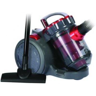 Пылесос Sinbo SVC 3479Z красный/черный (SVC 3479Z)Пылесосы Sinbo<br>мощность: 1800Вт; с контейнером для пыли; мощность всасывания 350Вт, с фильтром тонкой очистки, цвет: красный/черный<br>