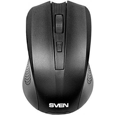 Мышь SVEN RX-300 Wireless черная (SV-03200300W)Мыши SVEN<br>Беспроводная мышь SVEN RX-300 Wireless черная, BlueLED, 3+1(колесо прокрутки), 600/1000 dpi, симметричная<br>