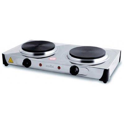 Электрическая плита Smile DEP 9015 (DEP 9015)Электрические плиты Smile <br>Плитка электрическая SMILE DEP 9015 (2 нагревательных диска по 155 мм мощностью по 1000 Вт; Плавно регулируемый термостат; Большая ; Материал корпуса<br>