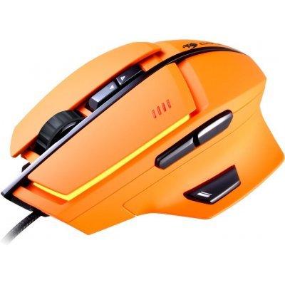 Мышь Cougar 600M оранжевый (600M Orange)Мыши Cougar<br>Мышь Cougar 600M Orange игровая, Лазерный сенсор Avago9800 8200dpi, регулировка DPI, механизм Omron, 8 прогр.клавиш + прогр.клавиша Trigger, встроен.память, 32-битный ARM процессор, RGB подсветка (16млн цветов)<br>