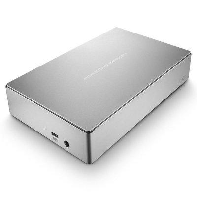 Внешний жесткий диск LaCie STFE4000200 4Tb (STFE4000200)Внешние жесткие диски LaCie<br>Жесткий диск Lacie Original USB 3.1 4Tb STFE4000200 Porsche Design Desktop 3.5 серебристый<br>