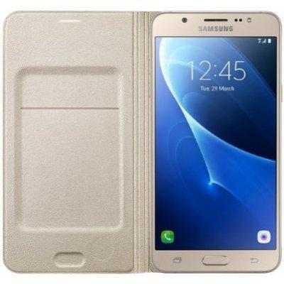 Чехол SAMSUNG Flip Wallet Cover для Galaxy J7 2016 Gold (EF-WJ710PFEGRU) (EF-WJ710PFEGRU) samsung flip wallet s6 edge gold pu ef wg925pfegru
