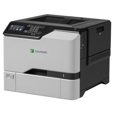 Цветной лазерный принтер Lexmark CS725de белый (40C9036)Цветные лазерные принтеры Lexmark<br>CS725de белый, лазерный, A4, цветной, ч.б. 47 стр/мин, цвет 47 стр/мин, печать 1200x1200, лоток 550+100 листов, USB, Wi-Fi, NFC, двусторонний автоподатчик, сеть<br>