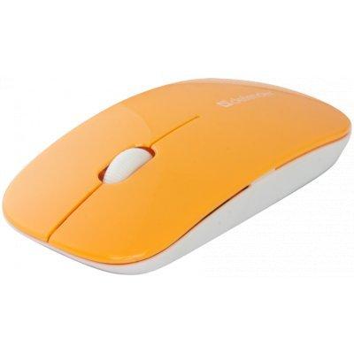 Мышь Defender NetSprinter MM-545 оранжевый (52546)Мыши Defender<br>оптическая, беспроводная (радиоканал), 1000 dpi, USB, цвет: белый, оранжевый<br>