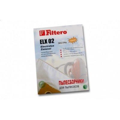 Пылесборник для пылесоса Filtero ELX 02 Экстра (4) (ELX 02 (4) ЭКСТРА)Пылесборники для пылесосов Filtero<br>Пылесборники Filtero ELX 02 Экстра пятислойные (4пылесбор.)<br>