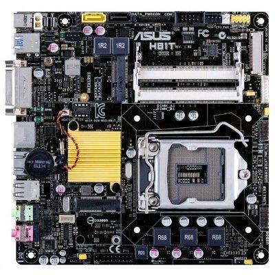 Материнская плата ПК ASUS H81T (H81T)Материнские платы ПК ASUS<br>материнская плата форм-фактора thin mini-ITX сокет LGA1150 чипсет Intel H81 2 слота DDR3 SO-DIMM, 1066-1600 МГц разъемы SATA: 3 Гбит/с - 1; 6 Гбит/с - 1<br>
