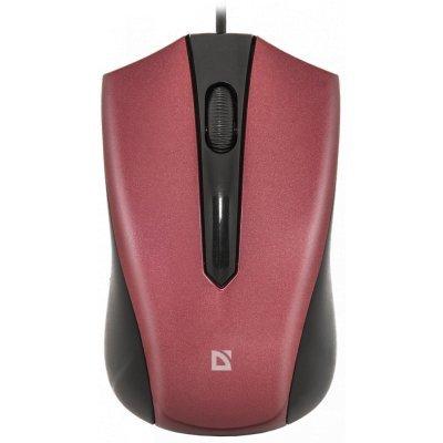 Мышь Defender Accura MM-950 красный (52951)Мыши Defender<br>оптическая, проводная, 1000 dpi, USB, цвет: красный<br>
