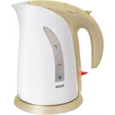 Электрический чайник Mystery MEK-1639 белый/бежевый (MEK-1639 BEIGE)Электрические чайники Mystery<br>Чайник электрический Mystery MEK-1639 2л. 1800Вт белый/бежевый (корпус: пластик)<br>