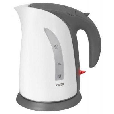 Электрический чайник Mystery MEK-1639 белый/серый (MEK-1639 GREY)Электрические чайники Mystery<br>Чайник электрический Mystery MEK-1639 2л. 1800Вт белый/серый (корпус: пластик)<br>