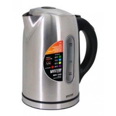 Электрический чайник Mystery MEK-1640 серебристый (MEK-1640)Электрические чайники Mystery<br>Чайник электрический Mystery MEK-1640 1.7л. 1800Вт серебристый<br>