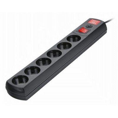 Сетевой фильтр Most LR 3м (МОSТ LR-Ч 3м)Сетевые фильтры Most<br>Сетевой фильтр Most LR 3м черный 6 розеток<br>