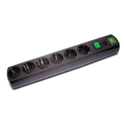 Сетевой фильтр Most RG 3м (МОSТ RG-Ч 3 м)Сетевые фильтры Most<br>Сетевой фильтр Most RG 3м черный 6 розеток<br>