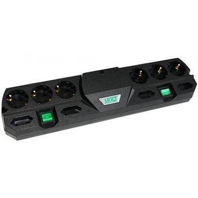 Сетевой фильтр Most TRG 5м (MOST TRG-ч-5 м)Сетевые фильтры Most<br>Сетевой фильтр Most TRG 5м черный 10 розеток<br>