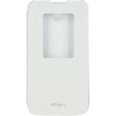 Чехол для смартфона LG для L70 D325 QuickWindow белый (CCF-405G.AGRAWH) (CCF-405G.AGRAWH) стоимость