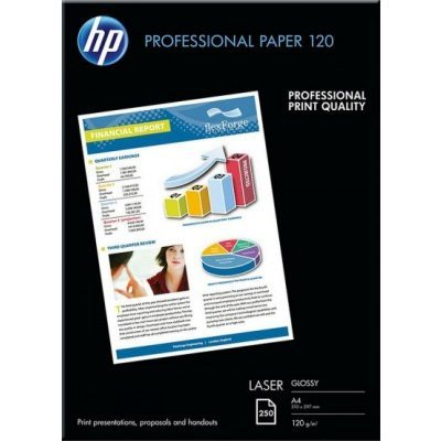 Бумага для принтера HP Professional Glossy Laser Paper 120 gsm-250 sht/A4/210 x 297 mm (CG964A), арт: 242100 -  Бумага для принтера HP