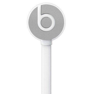 Наушники Beats urBeats серебристый (MK9Y2ZE/A)Наушники Beats<br>вставные наушники (затычки) с микрофоном поддержка iPhone разъём mini jack 3.5 mm длина провода 1.2 м вес 18 г сменные амбушюры<br>