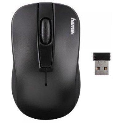 Мышь Hama AM-7700 черный (134915)Мыши Hama<br>Мышь Hama AM-7700 черный оптическая (1000dpi) беспроводная USB для ноутбука (2but)<br>