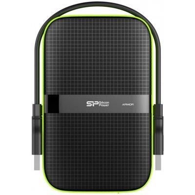 Внешний жесткий диск Silicon Power SP010TBPHDA60S3K 1Tb черный (SP010TBPHDA60S3K)Внешние жесткие диски Silicon Power<br>Жесткий диск Silicon Power USB 3.0 1Tb A60 SP010TBPHDA60S3K Armor 2.5 черный<br>