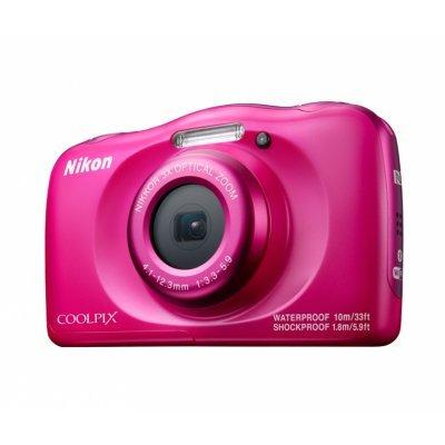 Цифровая фотокамера Nikon Coolpix W100 розовая (VQA012K001)