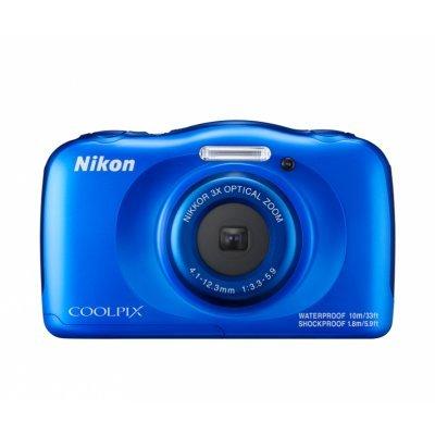 Цифровая фотокамера Nikon Coolpix W100 синяя (VQA011K001)