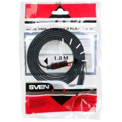 Кабель HDMI SVEN 00134 1.8M (00134) кабель sven oo474 black