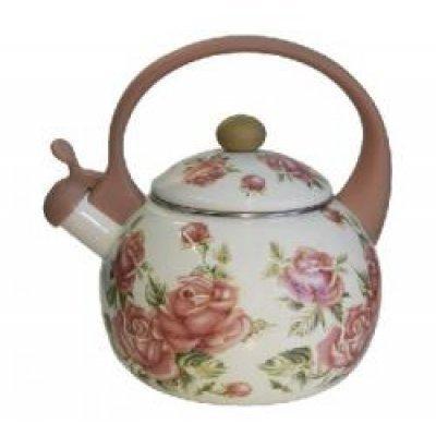 Чайник Zeidan Z-4123 (Z 4123)Чайники Zeidan <br>Z-4123 Чайник со свистком 2,5л, эмалир.сталь,комб.ручка,эмаль с рисунком Zeidan<br>