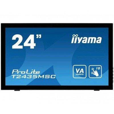 Монитор IIYAMA 23,6 PL2435M (T2435MSC-B2)Мониторы IIYAMA<br>Монитор LCD PL2435M 23,6   16:9 1920х1080 VA, nonGLARE, TOUCH, 250cd/m2, H178°/V178°, 12М:1, 6ms, VGA, DVI, HDMI, DP, USB-Hub, Tilt, Speakers, Webcam, 3Y, Black<br>
