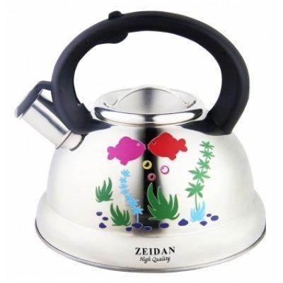 Чайник Zeidan Z-4119 (Z 4119)Чайники Zeidan <br>Z-4119 Чайник со свист 3л.,нерж.сталь, инд.дно Zeidan<br>