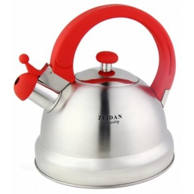 Чайник Zeidan Z-4121 (Z 4121)Чайники Zeidan <br>Z-4121  Чайник со свистком  3 л.,бакелит.ручки красн.цвета Soft-touch., Zeidan<br>