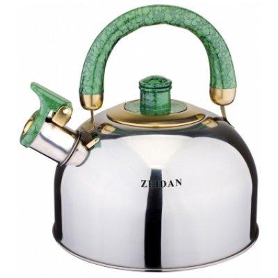 Чайник Zeidan Z-4118-02 (Z 4118-02)Чайники Zeidan <br>Z-4118-02 Чайник со свист 3,5л.,нерж.сталь, инд.дно, подвиж.бакел.ручка Zeidan<br>