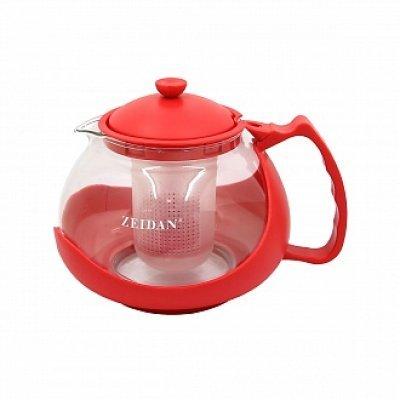 Чайник Zeidan Z-4106 красный (Z 4106 (красн))Чайники Zeidan <br>Z-4106 красный Чайник заварочный 1150 мл., термост.стекло,пластик Zeidan<br>