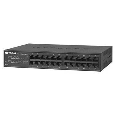 Коммутатор Netgear GS324-100EUS (GS324-100EUS)Коммутаторы Netgear<br>NETGEAR [R] 24-портов 10/100/1000 Мбит/с с внешним блоком питания и функциями энергосбережения<br>