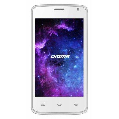 Смартфон Digma A400 3G белый (LT4001PG (WHITE))Смартфоны Digma<br>Смартфон Digma A400 3G Linx 4Gb белый моноблок 3G 2Sim 4 480x800 Android 5.1 2Mpix WiFi BT GPS GSM900/1800 GSM1900 TouchSc MP3 VidConf FM A-GPS microSD max32Gb<br>