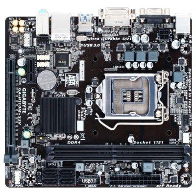 Материнская плата ПК Gigabyte GA-H110M-S2V (rev. 1.0) (GA-H110M-S2V)Материнские платы ПК Gigabyte<br>материнская плата форм-фактора microATX сокет LGA1151 чипсет Intel H110 2 слота DDR4 DIMM, 2133 МГц разъемы SATA: 6 Гбит/с - 4<br>