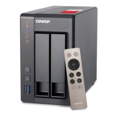 Сетевой накопитель NAS Qnap TS-251+-2G (TS-251+-2G)Сетевые накопители NAS Qnap<br>сетевой накопитель (NAS), 2 гигабитных LAN-порта линейка TS-251+ 2 места для HDD 2.5/3.5 процессор Intel Celeron, 2000 МГц 2 Гб оперативной памяти DDR3 HDMI-выход менеджер закачек BitTorrent питание через сетевой адаптер<br>