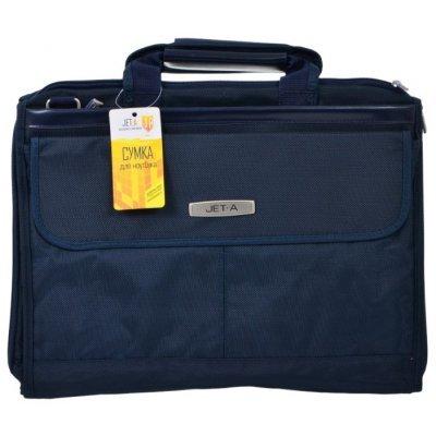 Сумка для ноутбука Jet.A LB15-51 темно-синий (LB15-51)Сумки для ноутбуков Jet.A<br>Сумка для ноутбука Jet.A LB15-51 до 15,6 (Темно-синий , качественный полиэстер, современный дизайн,<br>