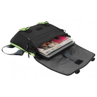 Сумка для ноутбука Crown CMCCH-3315BBG черный/зеленый (CMCCH-3315BBG)Сумки для ноутбуков Crown<br>Сумка для ноутбука CROWN CMCCH-3315BBG (Harmony Series) black and green 15,6<br>