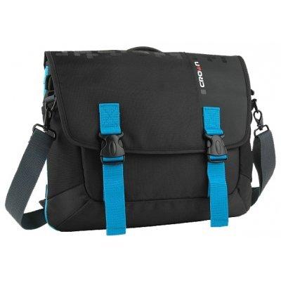 Сумка для ноутбука Crown CMCCH-3315BBU черный/синий (CMCCH-3315BBU)Сумки для ноутбуков Crown<br>Сумка для ноутбука CROWN CMCCH-3315BBU (Harmony Series) black and blue 15,6<br>