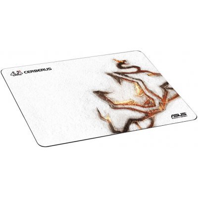 Коврик для мыши ASUS Cerberus Arctic черный/белый (90YH00Y1-BAUA00) гарнитура asus cerberus arctic мониторы белый проводные [90yh0062 b1ua00]