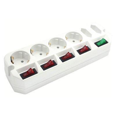 Сетевой фильтр Most A10 1.6м (A10-Б 1,6)Сетевые фильтры Most<br>Сетевой удлинитель Most A10 1.6м (6 розеток) белый (пакет ПЭ)<br>