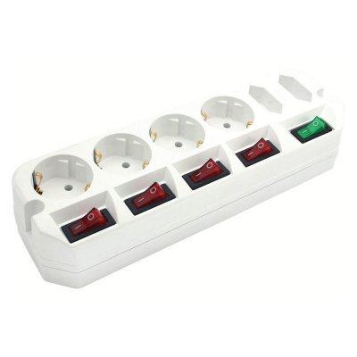 Сетевой фильтр Most A10 3м (A10-Б 3)Сетевые фильтры Most<br>Сетевой удлинитель Most A10 3м (6 розеток) белый (пакет ПЭ)<br>