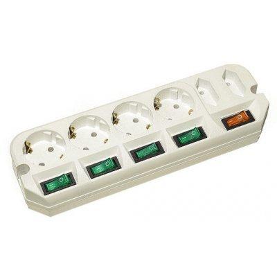 Сетевой фильтр Most A16 1.6м (A16-Б 1.6)Сетевые фильтры Most<br>Сетевой удлинитель Most A16 1.6м (6 розеток) белый (пакет ПЭ)<br>
