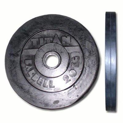 Блин для гантели и штанги Titan d.51мет.прф./20кг (ДИСК МП 51/20)Блины для гантелей и штанг Titan<br><br>