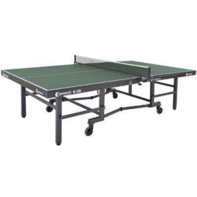 Теннисный стол Sponeta S8-36 (S8-36)Теннисные столы Sponeta<br>Производство: Sponeta<br>Игровое поле: 25-мм ДВП<br>Размер в игровом положении, см: 274 х 152,5 х 76<br>Размер хранения, см: 152,5 x 55 x 162<br>Масса, кг: 140<br>Цвет: Зеленый<br>EN-НОРМА: 14486-1 Класс: А<br>