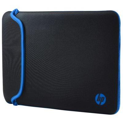 Чехол для ноутбука HP 14.0 Chroma Sleeve Blk/Blue (V5C27AA)Чехлы для ноутбуков HP<br>чехол, для 14 ноутбуков, из синтетических материалов, водонепроницаемый материал<br>